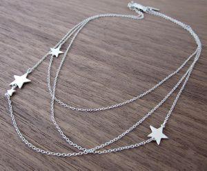 collier étoile argenté de Shlomit Ofir