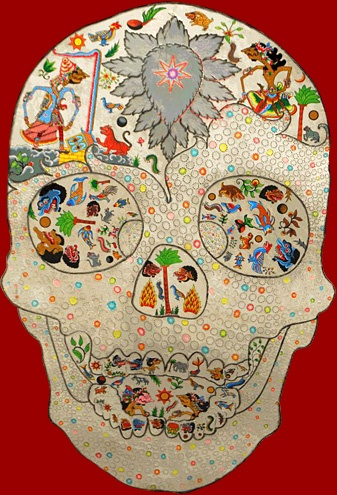 "Nasirun    Part of ""Perahuku Samuderaku"" Mixed Media, 51 x 280 cm, 2011"