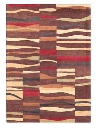 Mili Designs NYC Floral Patterned Rug, Brown/Multi, 5' x 8'