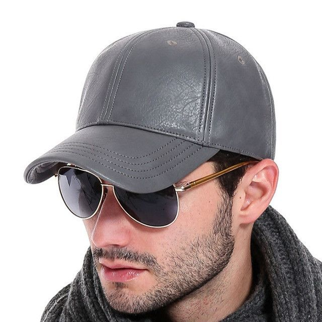 [AETRENDS] 2017 New PU Leather Baseball Cap Men Outdoor Sports Hat Z-2658
