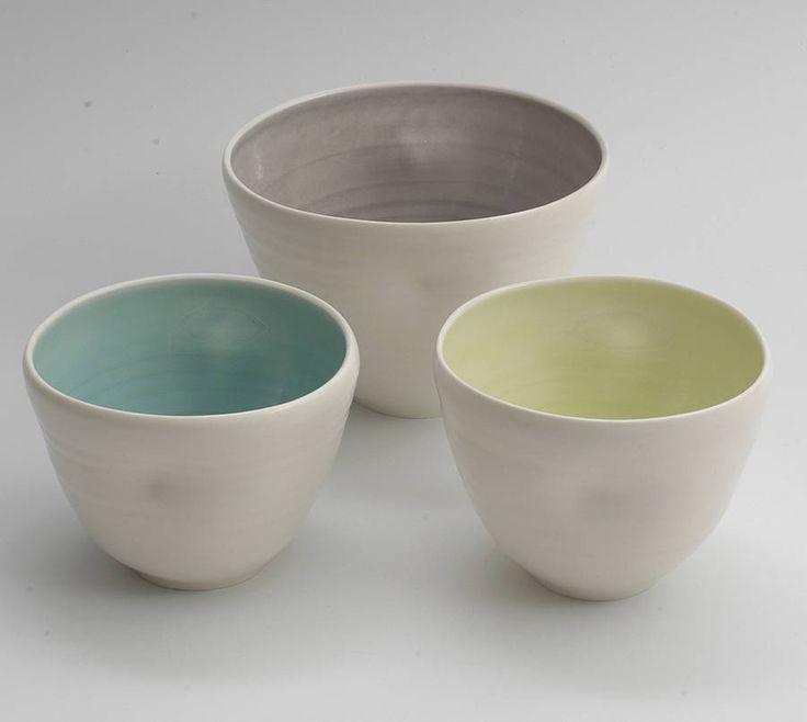 handmade dimpled bowl by linda bloomfield   notonthehighstreet.com