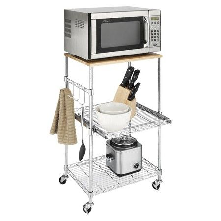 What are some of the different types of microwave carts available at Ikea?