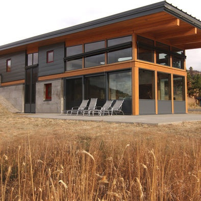 17 best images about overhang roof entry on pinterest for Modern shed homes