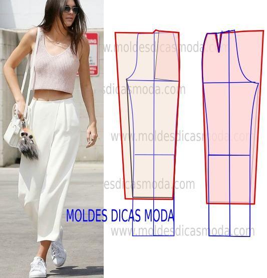 Para fazer o molde de calça saia no seu tamanho não se esqueça que em primeiro lugar tem que saber quais as suas medidas e para isso no blogue tem algumas