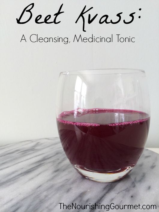 Tangy, earthy, salty, and a little bit of fizz perfectly describe this deeply nourishing, and richly medicinal, fermented beet kvass tonic. http://www.thenourishinggourmet.com/2014/03/beet-kvass-a-cleansing-medicinal-tonic.html