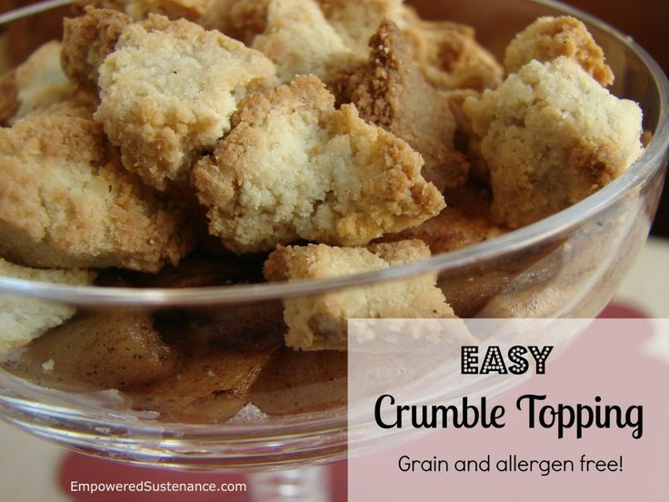 I've been searching for a good low-carb crumble topping.  Could this be it??