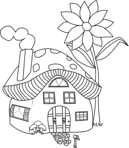 Beyond The Fringe Mushroomville Mushroom House And Sign Freebies Kids ColoringColoring PagesMushroom