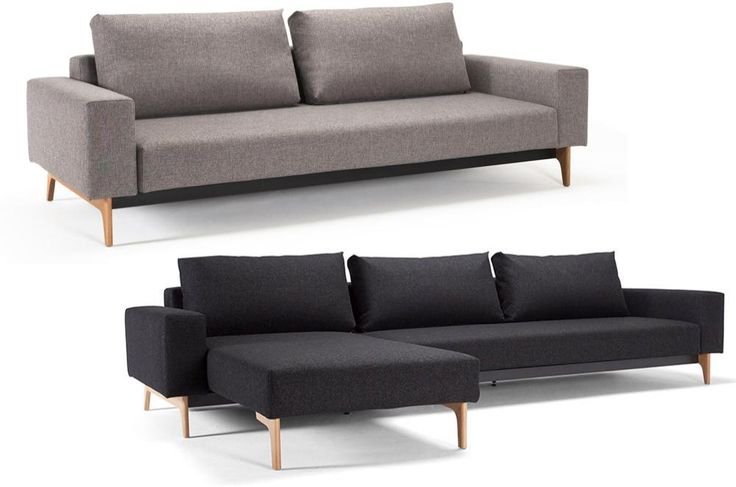 INNOVATION Schlafsofa Idun - Mixed Dance Grau (521)