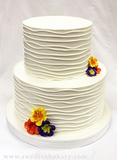 Textured Branch And Nasturiam Wedding Cake