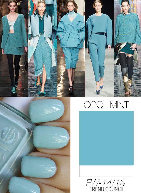 A/W 14/15 Pantone Cool Mint Trend Council