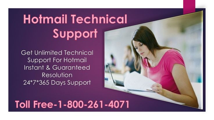 Our ‪#‎Hotmail‬ ‪#‎Support‬ executives are equipped with sound technical knowledge, expertise and experience; they can solve any related Hotmail, MSN issue and can offer the best  #Hotmail ‪#‎technical‬ #support and services remotely to users sitting in every corner of the planet. Call us Toll Free-1-800-261-4071 visit:-http://hotmailsupport.co/