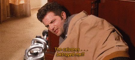 """Ben's relentless love for calzones.   28 Of The Funniest Running Jokes On """"Parks And Recreation"""""""