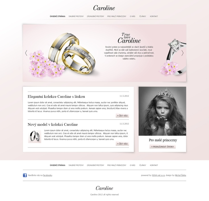 Caroline, True Love, Engagement Ring, Jewellery, User Interface, UX, UI, Web Design