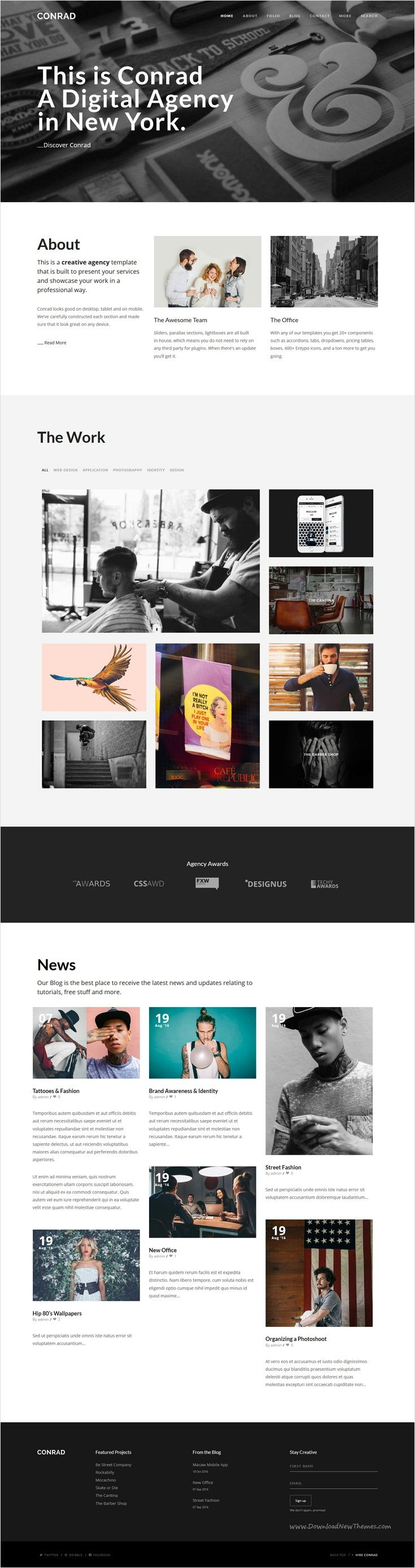 Conrad is a beautifully design multi-page / onepage #responsive #WordPress theme for multipurpose #webdev website with a variety of layouts download now➩ https://themeforest.net/item/conrad-creative-multipurpose-wordpress-theme/17826674?ref=Datasata
