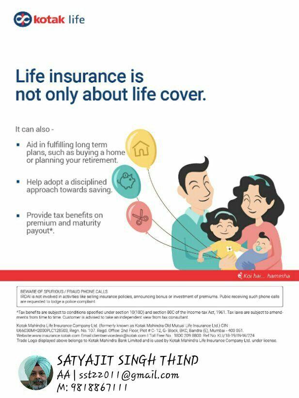 Pin By Satyajit Thind On Life Insurance Kotak Mahindra Financial