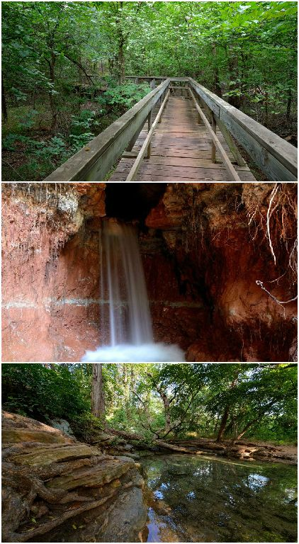 Roman Nose State Park in Watonga is one of Oklahoma's original seven state parks. There are plenty of hiking trails with beautiful destinations along the way.