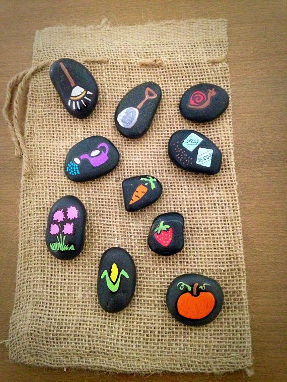 Garden Themed Story Stones by starrygirlb on Etsy