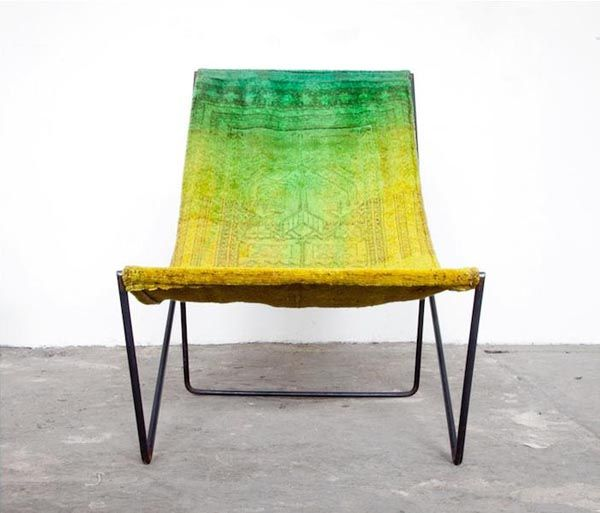 Rug Sling Chairs. By Sit and Read. >> This chair is beautiful!Rugs Sling, Persian Rugs, Reading Rugs, Reading Rugchair, Sling Chairs, Furniture, Folding Chairs, Rugs Chairs, Overdyed Rugs