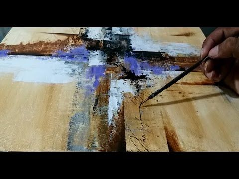 Abstract painting / Painting / Art / Demo / Artist - YouTube