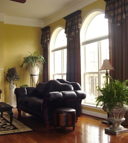 Cornice Box, Cornices, Valances, Drapes Curtains, Drapery, Shades Blinds, Tall  Windows, Window Coverings, Window Treatments