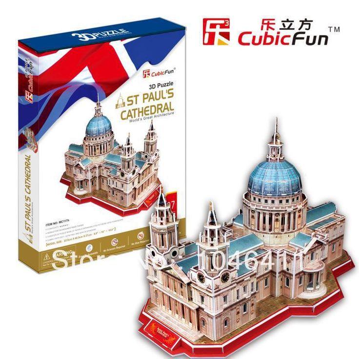 Св. павла Собор CubicFun 3D образовательные головоломка Бумаги и EPS Модель Бумажного Главная Украшение на рождество подарок на день рождения