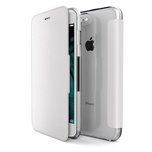 awesome iPhone 7 Case, X-Doria (Engage Folio) Case for iPhone 7, Flip Wallet Case with a Magnetic Latch, 2 Card Slots, Premium Protective iPhone 7 Case(White)