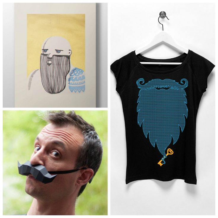 The Picture Garden: Austrian Etsy ... decided to grow a beard!