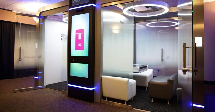 Peek into the future of bank branches and you won't see many bankers.
