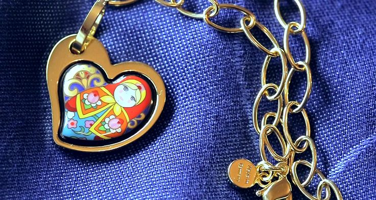 Heart pendant with old design.