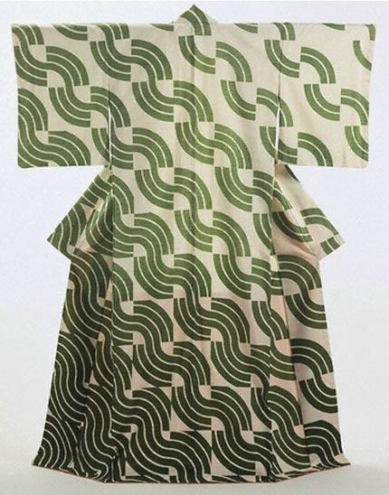 'Green Waves', Kimono, Kunihiko Moriguchi, 1973
