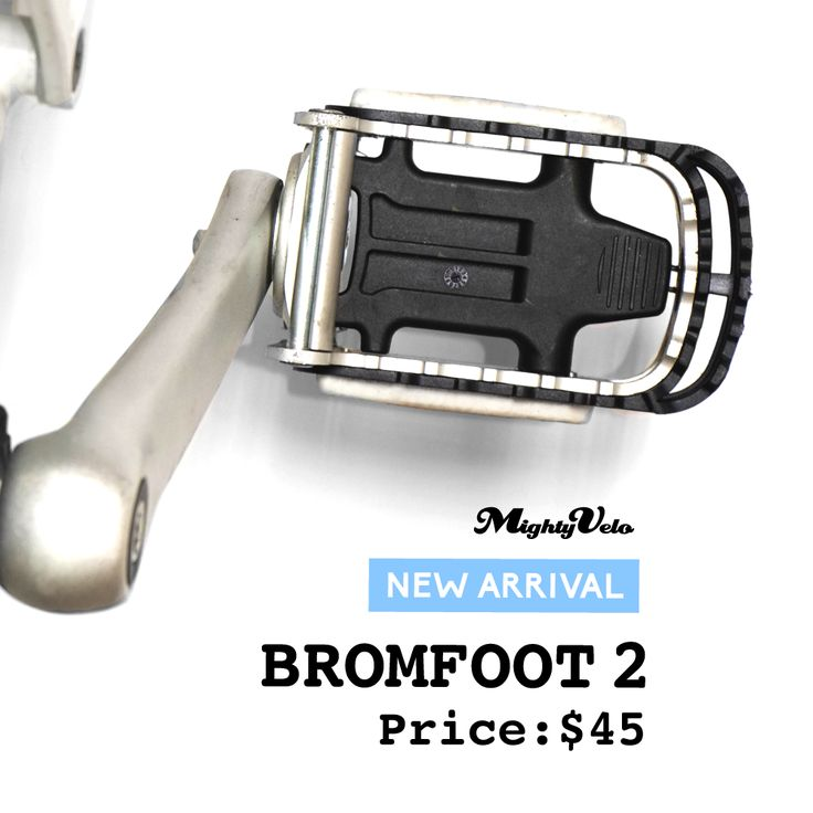 The Bromfoot 2 is the perfect pedal guard for your Brompton pedals!   It protects your legs from being scratched from the pedals' pointy edges and protects your bike frame from being scratched by overextended folded pedals.   It is designed to be longer, wider and offers more pedal grip for your feet!   Retails at S$45.  #brompton #bromfoot #mightyvelo