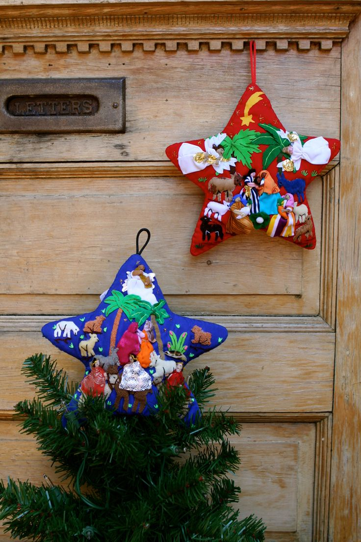 Peruvian christmas ornaments - Christmas Tree Star Ornament Tree Topper Wall Hanging Handmade By Artisans In