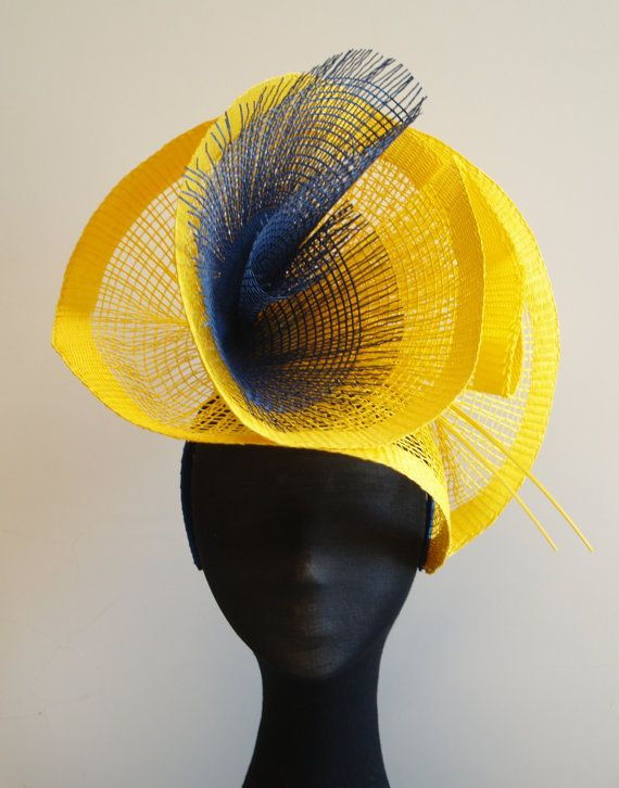 Yellow & Navy Burst Hatinator by BellaandMrSimon on Etsy