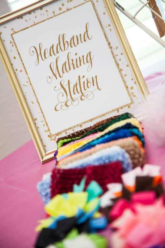 Kate Spade Baby Shower: Instead of playing the typical baby shower game. Make headbands that the new mom to be will actually use. Find out where to get cheap headband materials