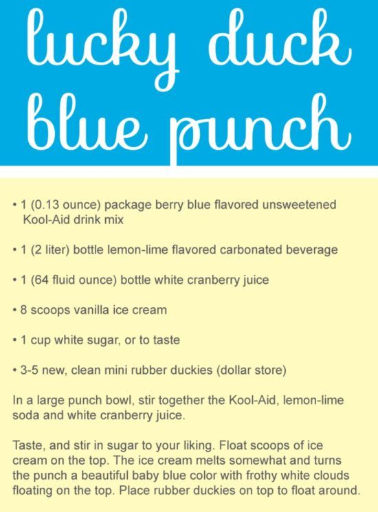 Rubber Duck Baby Shower Punch Recipe Video Tutorial