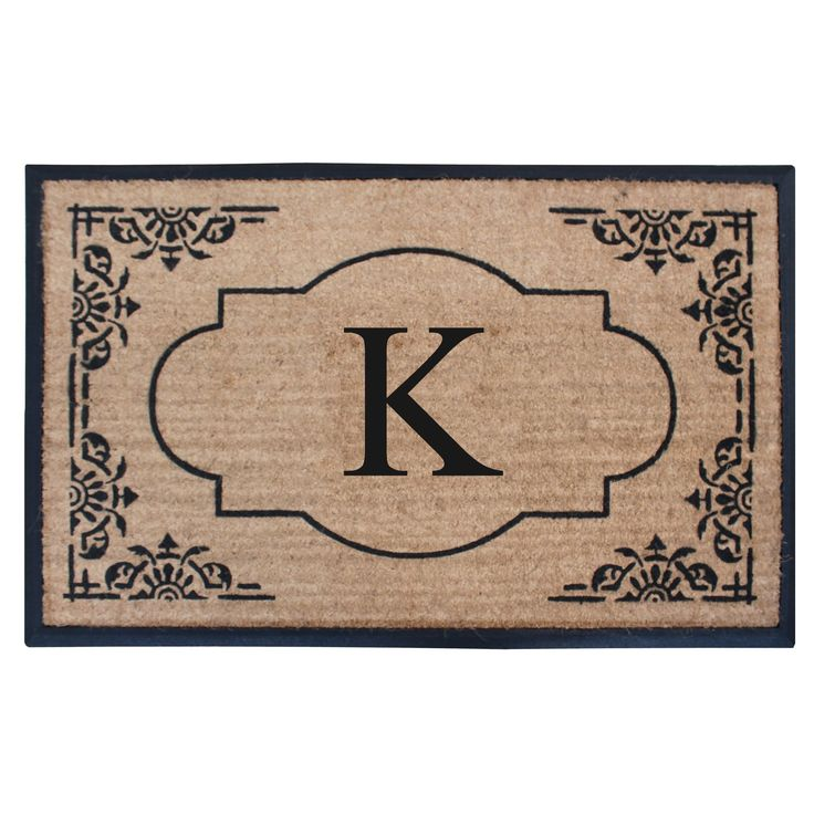 A1HC First Impression Hand Crafted 30 in. x 48 in. Heavy Rubber and Coir Double Doormat- Monogrammed (Monogrammed