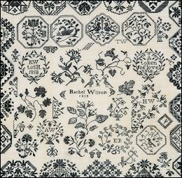 Ackworth Sampler worked by Hannah Hicks dated 1790.