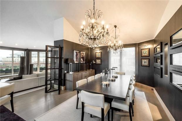 Chandelier Over Dining Table Dining Rooms Pinterest