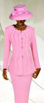 Pink Embellished Skirt Suit - Size 22W - $169.99