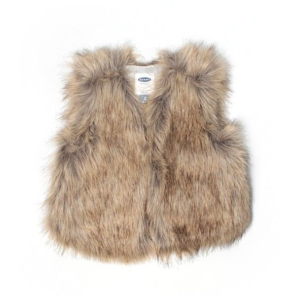 Old Navy Faux Fur Vest ❤ liked on Polyvore featuring outerwear, vests, jackets, fur, vest, brown waistcoat, old navy, faux fur waistcoat, vest waistcoat and brown faux fur vests