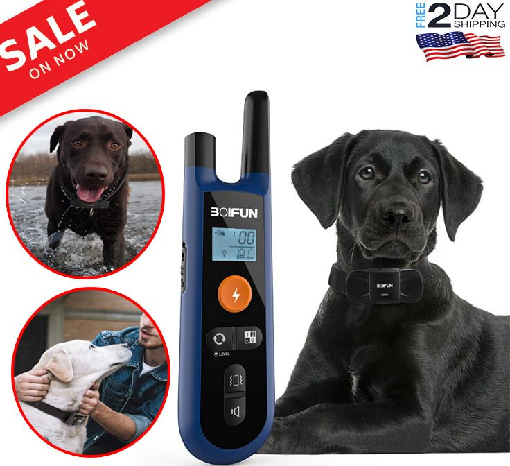 Pet Dog Training Shock Collar Remote Waterproof Rechargeable