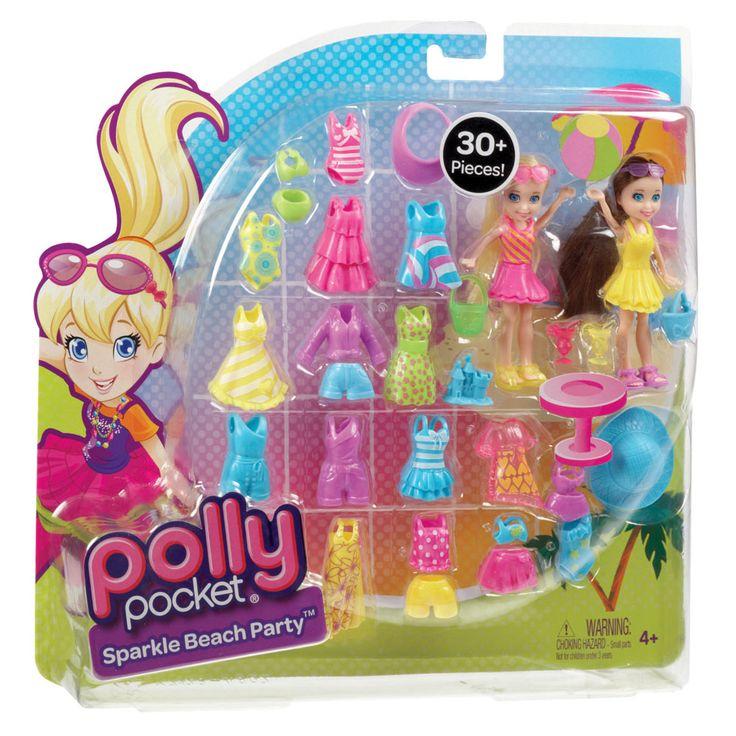 Polly Pocket Mattel Conjunto 2 Amigas Fashion - Festa na Praia Y7128 - Polly Pocket no CasasBahia.com.br