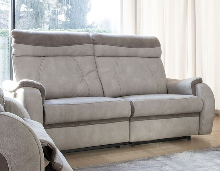 canap 3 places beige et taupe therese - Canape 3 Places Relax