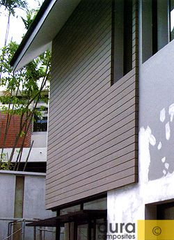 composite cladding & decking as housing material
