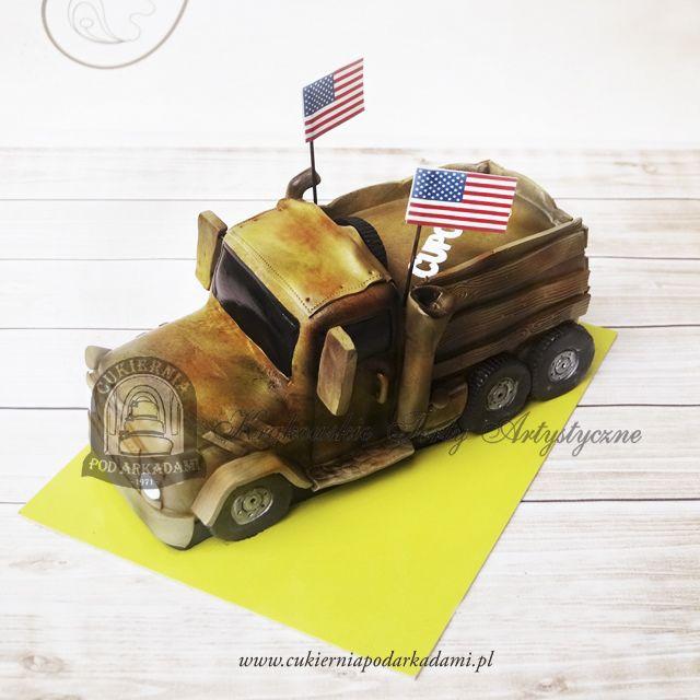 191BA Amerykański samochód wojskowy. American military vehicle cake.