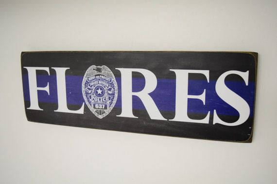 Police Officer Name Sign Family Name Police Decor by Herosigns