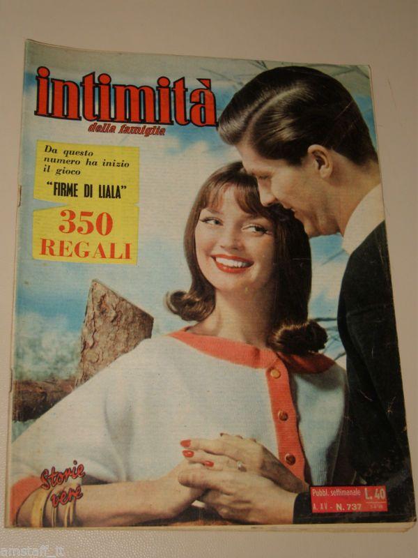 INTIMITA rivista 7 APRILE 1960 NR.737 storie vere FOTOROMANZO