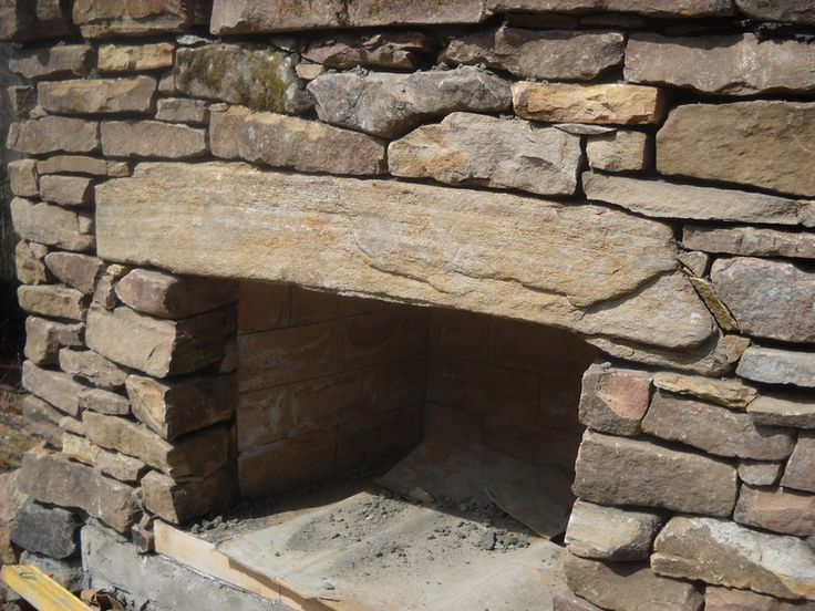 DIY Outdoor Fireplace - Assembling the stones