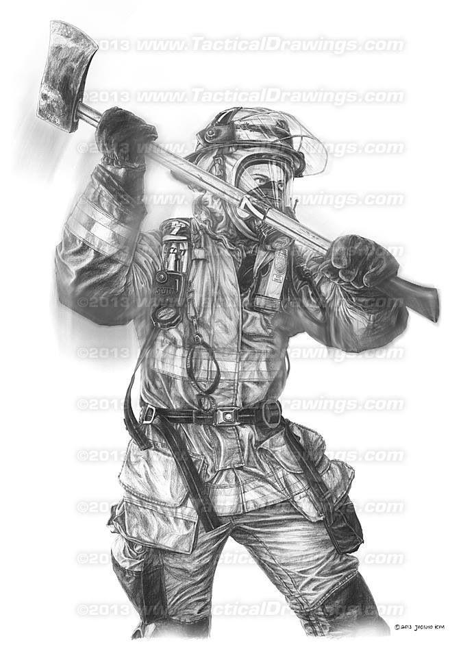 Firefighter Paintings | Firefighter art