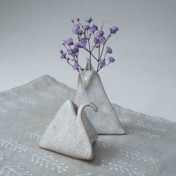 One Small Stoneware Mini Vase  Weed Pot  by JanFairhurstPottery, $19.50